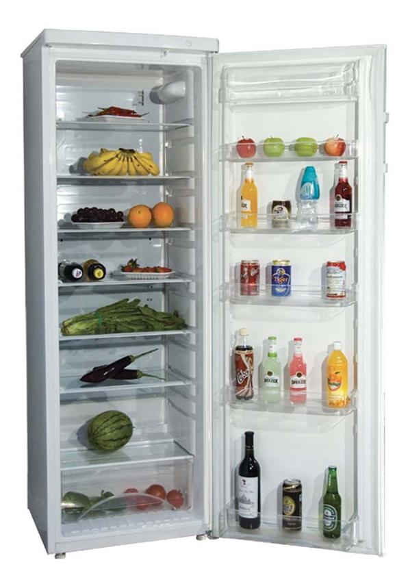 Køleskab med alm. dør