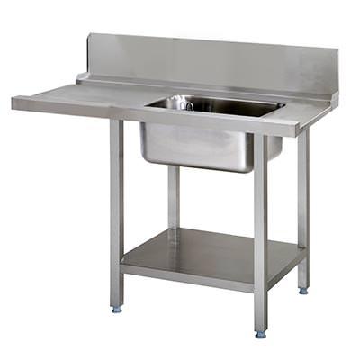 Tilløbsbord til opvaskemaskiner