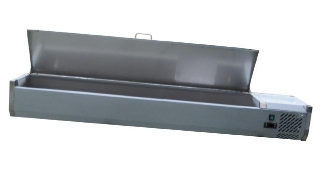 Køleopsats med rustfri stål-låg
