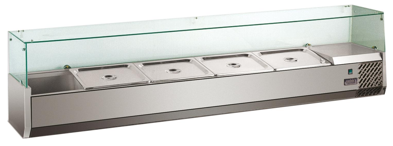 Køleopsats med glasafdækning - 430 mm høj