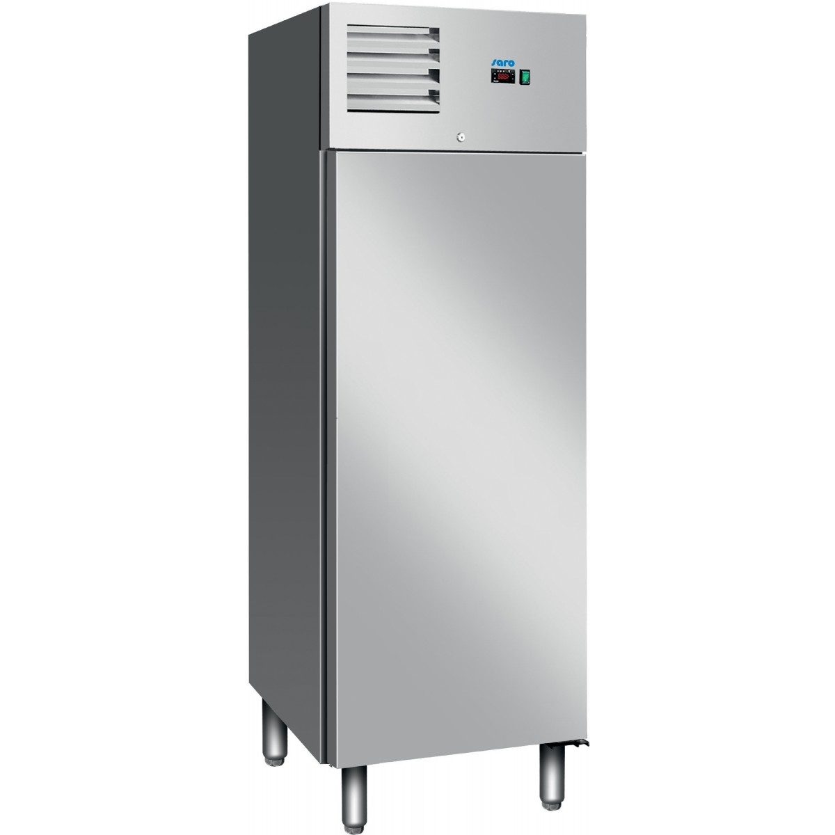Fritstående rustfri stål køleskab enkeltlåge