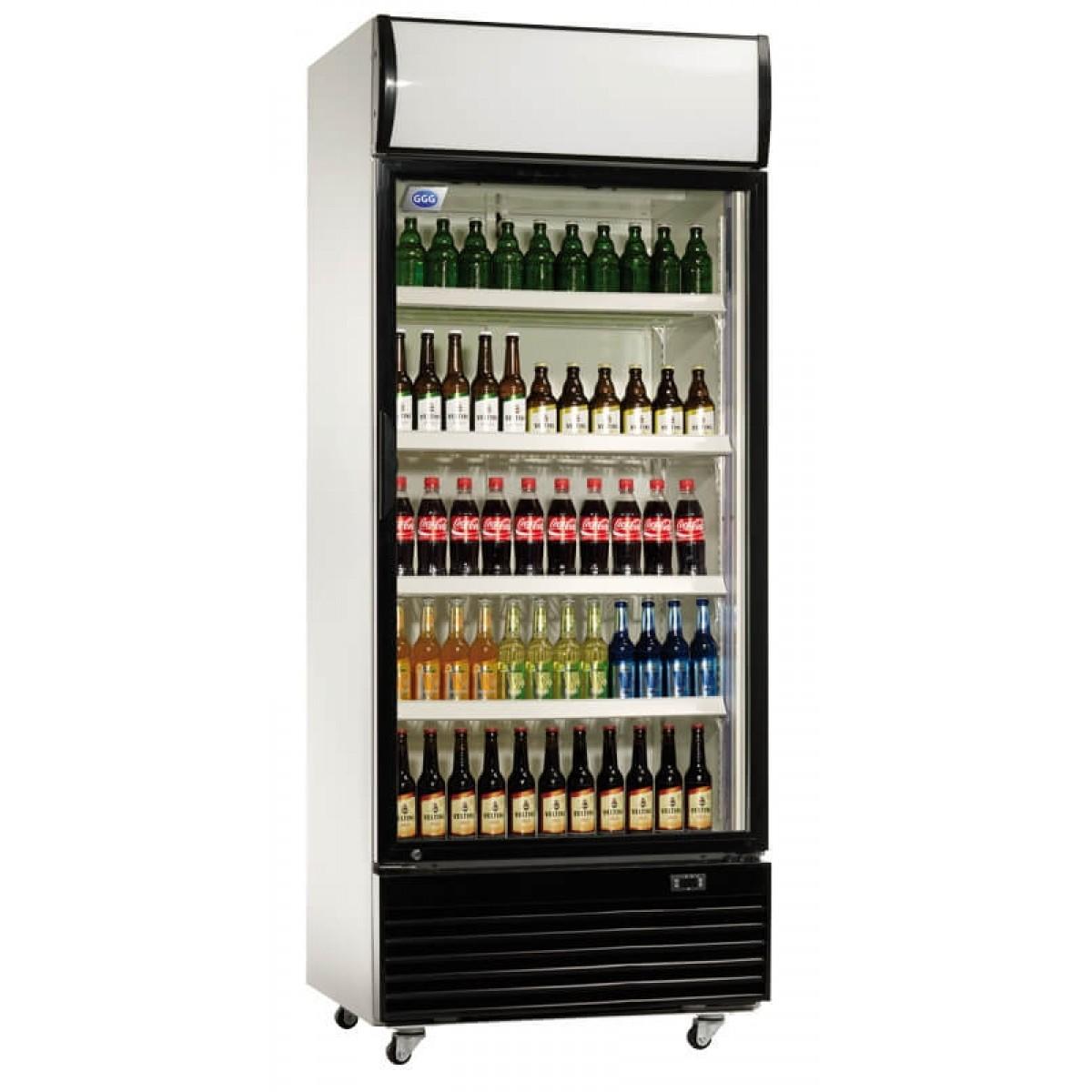 Flaskekøler - 660 liter - glasdør