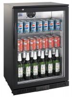 Flaskekøleskab 138 liter | Glasdør | Sort | BackBar Cooler