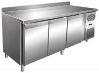 Kølebord - 386 liter - 3 døre - GN 1/1 - 100 mm bagkant - Rustfri stål