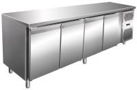 Kølebord - 511 liter - 4 døre - GN 1/1 - Rustfri stål