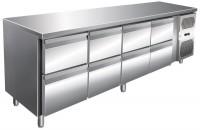 Kølebord - 511 liter - 8 skuffer - GN 1/1 - Rustfri stål