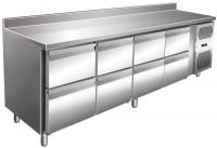 Kølebord - 511 liter - 8 skuffer - GN 1/1 - Bagkant - Rustfri stål