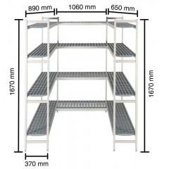 Reolsystem til køle-/fryserum KIT050
