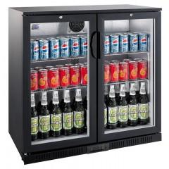 Flaskekøler   208 liter   Sort   Drikkevarekøler   Barkøler