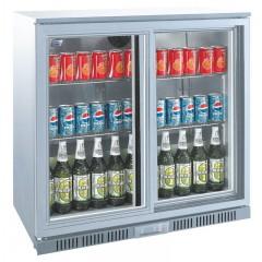Flaskekøler | 208 liter | Sølv | Drikkevarekøler | Barkøler
