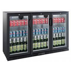 Flaskekøler 330 liter   Back Bar Cooler   Drikkevarekøler   Sort